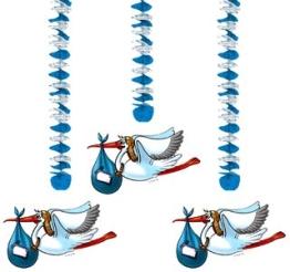 Rotorspirale, Storch, hellblau, 3er-Pack - 1