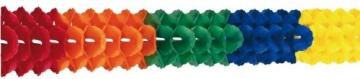 Saaldeko: Multicolor-Girlande, 25 cm Durchmesser, 10 m Länge - 1