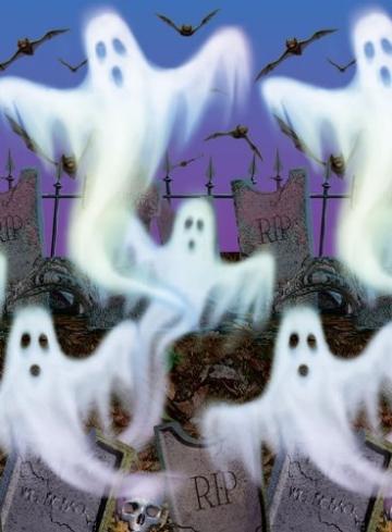 Scene-Setter: mit Geistern bedruckte Folie, 120 cm x 15 m - 2