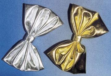 Schleife, Folienschleife, silber, 18 cm - 1