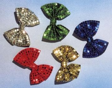 Schleife, mit Pailletten, schwarz - 1