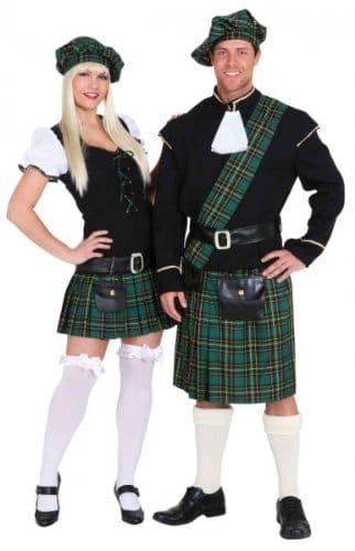Scottish Girl grün : Kleid, Gürtel und Barett - 2