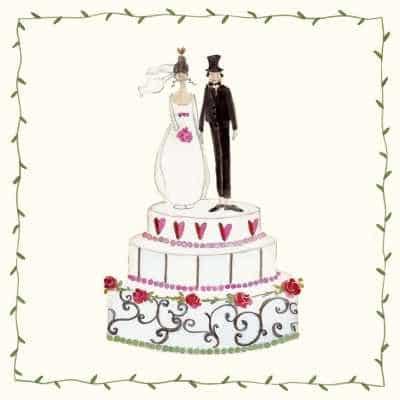 Servietten: Brautpaar, 20er-Pack - 1