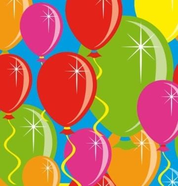 Servietten: Cocktail-Servietten, Serie Balloons, 25 x 25 cm, 20er-Pack - 1