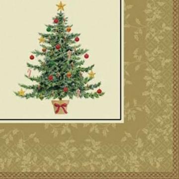 Servietten: Cocktail-Servietten, Weihnachtsbaum, zweilagig, 25 x 25 cm, 16er-Pack - 1