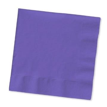 Servietten: Papierservietten, uni, dunkelblau, 30 x 30 cm, dreilagig, 20er-Pack - 7