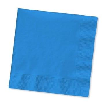 Servietten: Papierservietten, uni, hellblau, 30 x 30 cm, dreilagig, 20er-Pack - 3