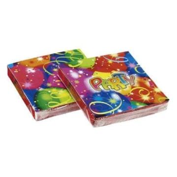 """Servietten: Party-Servietten, """"Ballon-Party"""", 33 x 33 cm, 20er-Pack - 1"""