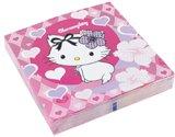 Servietten: Party-Servietten, Charmmy Kitty mit Herzen, 33 x 33 cm, 20er-Pack - 1