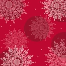 Servietten: Party-Servietten, Crystal, rot, 33 x 33 cm, 20 Stück - 1