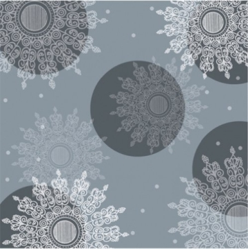 Servietten: Party-Servietten, Crystal, schwarz, 33 x 33 cm, 20 Stück - 1