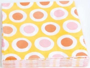 """Servietten: Party-Servietten """"Curl Yellow"""", 33 x 33 cm, 20 Stück - 1"""