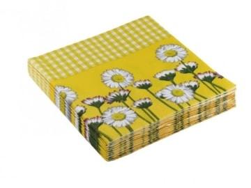 """Servietten: Party-Servietten """"Daisy Yellow"""", 33 x 33 cm, 20 Stück - 2"""