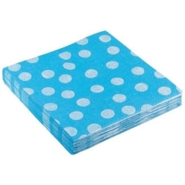 """Servietten: Party-Servietten """"Dots Blue"""", 33 x 33 cm, 20 Stück - 1"""