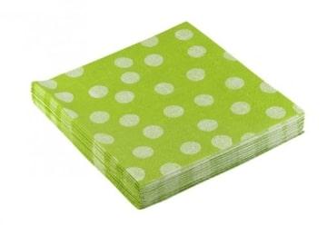 """Servietten: Party-Servietten """"Dots Green"""", 33 x 33 cm, 20 Stück - 2"""