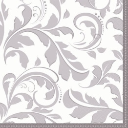 "Servietten: Party-Servietten, ""Elegant"", silber, 33 x 33 cm, 16 Stück - 1"