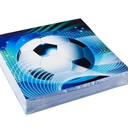 Servietten: Party-Servietten, Fußball-Party, 33 x 33 cm, 20er-Pack - 1