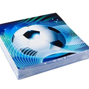 Servietten: Party-Servietten, Fußball-Party, 33 x 33 cm, 20er-Pack - 1