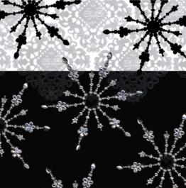 Servietten: Party-Servietten, Ice, schwarz-weiß, 33 x 33 cm, 20 Stück - 1