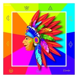 Servietten: Party-Servietten, Indianer-Motiv, 33 x 33 cm, 20er-Pack - 1