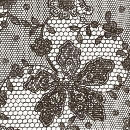 Servietten: Party-Servietten, Lace, braun, 33 x 33 cm, 20 Stück - 1