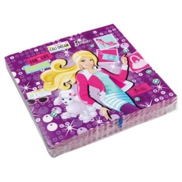 """Servietten: Party-Servietten, Motiv """"Barbie Fashion"""", 33 x 33 cm, 20 Stück - 1"""