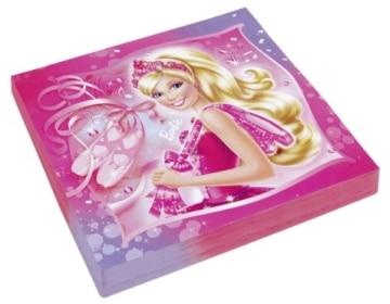 "Servietten: Party-Servietten, Motiv ""Barbie Pink Shoes"", 33 x 33 cm, 20 Stück - 1"