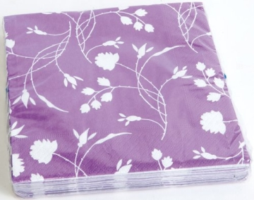 "Servietten: Party-Servietten ""Purple"", 33 x 33 cm, 20 Stück - 1"