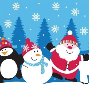 Servietten: Party-Servietten, Santa und Freunde, 33 x 33 cm, 20er-Pack - 1