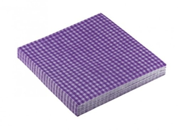 "Servietten: Party-Servietten ""Vichy Purple"", 33 x 33 cm, 20 Stück - 2"