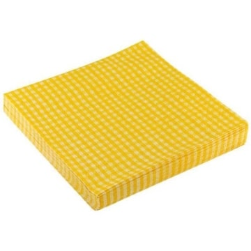 """Servietten: Party-Servietten """"Vichy Yellow"""", 33 x 33 cm, 20 Stück - 1"""