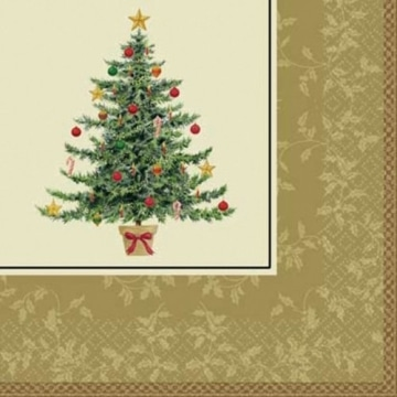 Servietten: Party-Servietten, Weihnachtsbaum, zweilagig, 33 x 33 cm, 16er-Pack - 1
