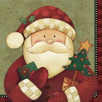 Servietten: Party-Servietten, Weihnachtsmann, zweilagig, 33 x 33 cm, 16er-Pack - 1