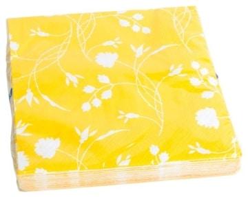 """Servietten: Party-Servietten """"Yellow"""", 33 x 33 cm, 20 Stück - 1"""