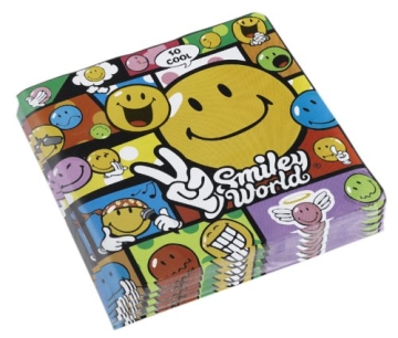 Servietten: Smiley-Comic, 33 x 33 cm, 20er-Pack - 1