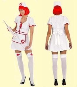 Sexy Krankenschwester : Kleid und Haube - 1