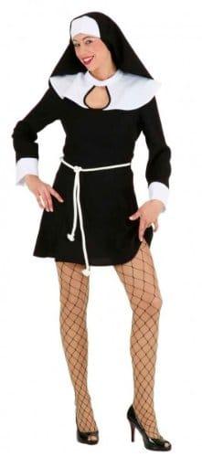 Sexy Nonne kurz : Kleid und Haube - 1