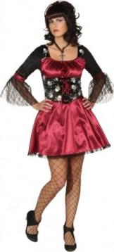 Sexy Vampir Totenkopf : Kleid und Petticoat - 1