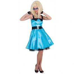 Sixties Kleid türkis mit Petticoat - 1