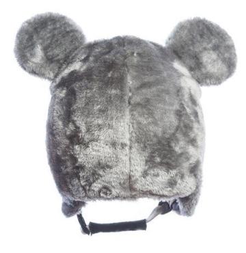 Skihelm-Verkleidung: Skihelm – Cover, Bär, grau, Skihelmüberzug Snowboardhelm Überzug - 2