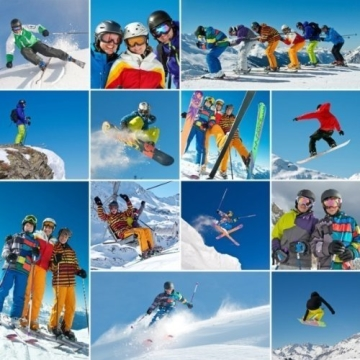 Skihelm-Verkleidung: Skihelmcover, Bär, braun, Skihelmüberzug Snowboardhelm Überzug - 3