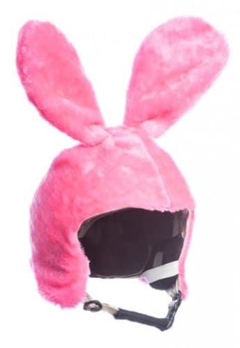 Skihelm-Verkleidung: Skihelmcover, Hase, pink, Skihelmüberzug Snowboardhelm Überzug - 1