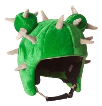 Skihelm-Verkleidung: Skihelmcover, Kaktus mit Stacheln, grün - 1