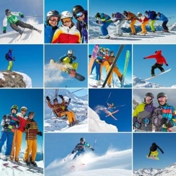 Skihelm-Verkleidung: Skihelmcover, Ziegenbock, mit Hörnern, weiß - 3