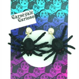Spinnen-Ohrringe, 1 Paar Clips - 1