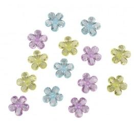 Streu-Deko: Deko-Konfetti Daisy, bunte Blumen, Kunststoff, 20 mm, 16 Stück - 1