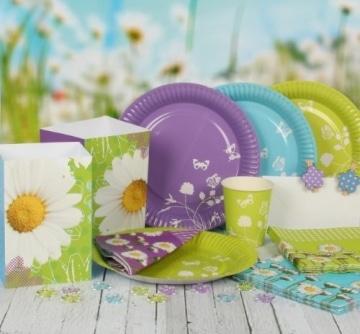 Streu-Deko: Deko-Konfetti Daisy, bunte Blumen, Kunststoff, 20 mm, 16 Stück - 2