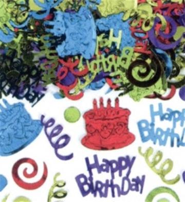 """Streu-Deko: Streu-Konfetti, """"Happy Birthday Megapack"""", 70 g - 1"""