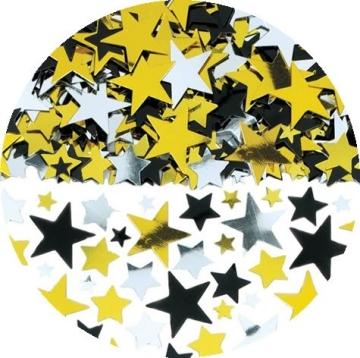 Streu-Deko: Streu-Konfetti, Sterne, drei Farben, 70 g - 2