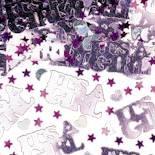 """Streukonfetti: Schriftzug """"It's A Girl"""", pink und weiß, Silberfolie, 14 g - 1"""